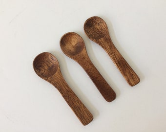 vintage small wooden spoons