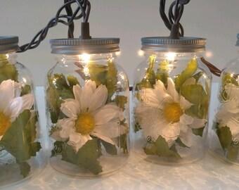 Daisy Mason Jar String Lights-Summer String Lights-Summer Wedding Lights-Spring Wedding Lights-Spring String Lights