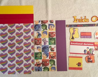 Inside Out Fear & Anger Scrapbooking Kit