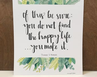 Inspirational Quote, Watercolor Print, LDS Quote, Watercolor Print