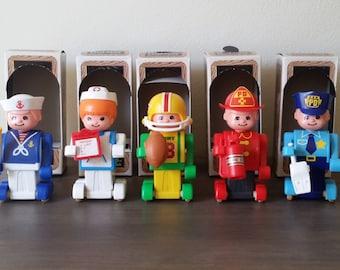 Pushkins Nurse, Football Player, Fireman, Policeman or Sailor Vintage Brand New by Tomy 1977