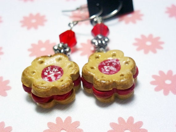 Jelly-Filled Sugar Cookie Earrings