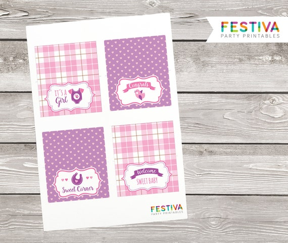 Shower Table Sign / Table Tent / Shower Tent / Shower Card / Pink Shower / Plaid Party Printable / Baby Girl / Shower Printable / Birdie  sc 1 st  Etsy & Shower Table Sign / Table Tent / Shower Tent / Shower Card /