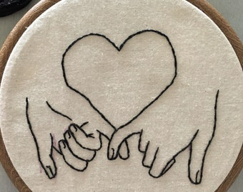 Embroidery hoop 'Meant be be' handmade / best friend/ marriage/ engagement