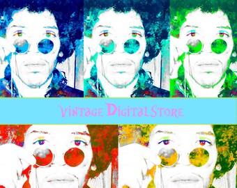 Jimi Hendrix Vintage Poster, Printable  Wall Art, Home Wall Decor, Wall art, Digital Gift, Music decor, Hendrix guitarist