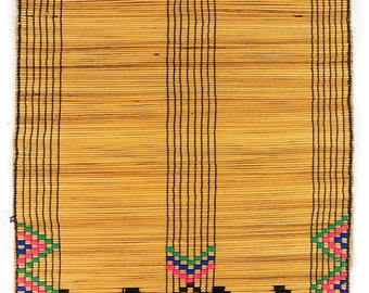 Zulu Mat Icansi with Embroidery South Africa African Art 87901
