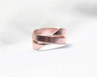 Rose Gold Ring, Stamped Ring, Persoanlized Ring, Adjustable Ring, Wire Ring, Aluminum Ring, Promise Ring, Hand Stamped Jewelry, Custom Ring