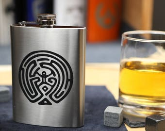 The Maze - Stainless Steel Hip Flask