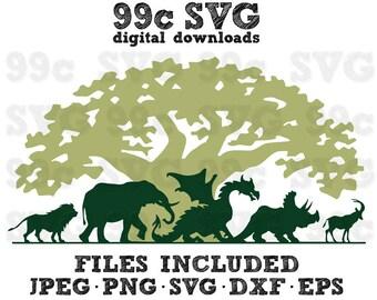 Disney Animal Kingdom SVG DXF Png Vector Cut File Cricut Design Silhouette Cameo Vinyl Decal Disney Party Template Heat Transfer Iron