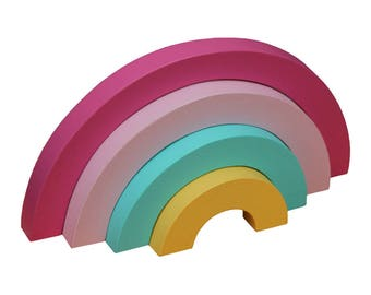 Rainbow Shelf Ornament - Rainbow Puzzle Decor