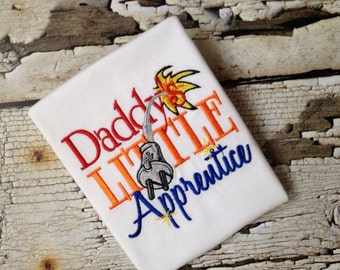 Daddy's Little Apprentice Shirt - Embroidered Electrician Shirt - Apprentice Embroidered Boys Shirt - Electric Boys Shirt