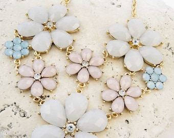 Multi Floral Statement Necklace!
