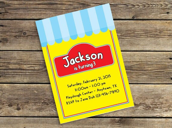 Play dough printable downloadable birthday party invitation zoom filmwisefo