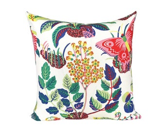Exotic Butterfly Spring designer pillow covers - Made to Order - Josef Frank for Schumacher