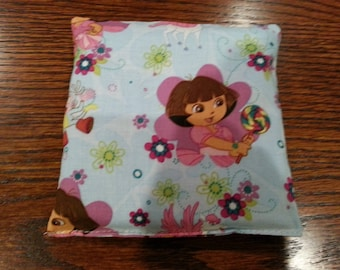 Boo Boo Packs, Ouch Pouch, Reuseable Hot or Cold Rice Packs, Kids Ice Pack, Rice Handwarmers, Heating Pad, Set of 2, Cotton Dora Fabric !