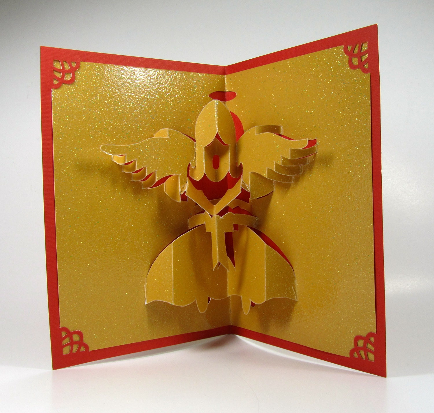 Christmas angel 3d pop up greeting card home dcor handmade zoom kristyandbryce Gallery