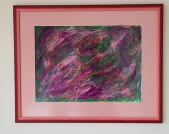 NEBULA MAGNA Healing energy painting Gouache paint
