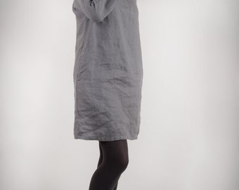 Tunic Dress Linen Dress, Womens Loose Linen Tunic Dress, Womens Linen Clothing Tunic,