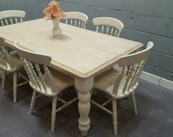 Stunning 6ft Table & 6 Chair Set