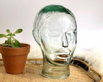 Vintage Glass Head, Manequin Head