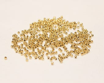 2mm GOLD plated spacers, Gold spacers, Gold round spacers