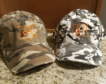 Youth camo hats.  Also fits adults