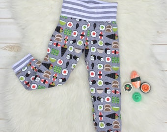 Kawaii Sushi Fold-over Waist Pants (Sizes Preemie- 5-6)