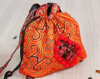 Tribal bag, Strip bag, Tribal bag, embroidery bag, Strip Purse.