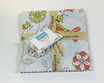 Riley Blake Designs, 5 Inch Stacker - Dutch Treat by Betz White