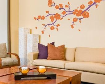 Wall Decals - Elegant Cherry Blossoms Branch - BRCB010L