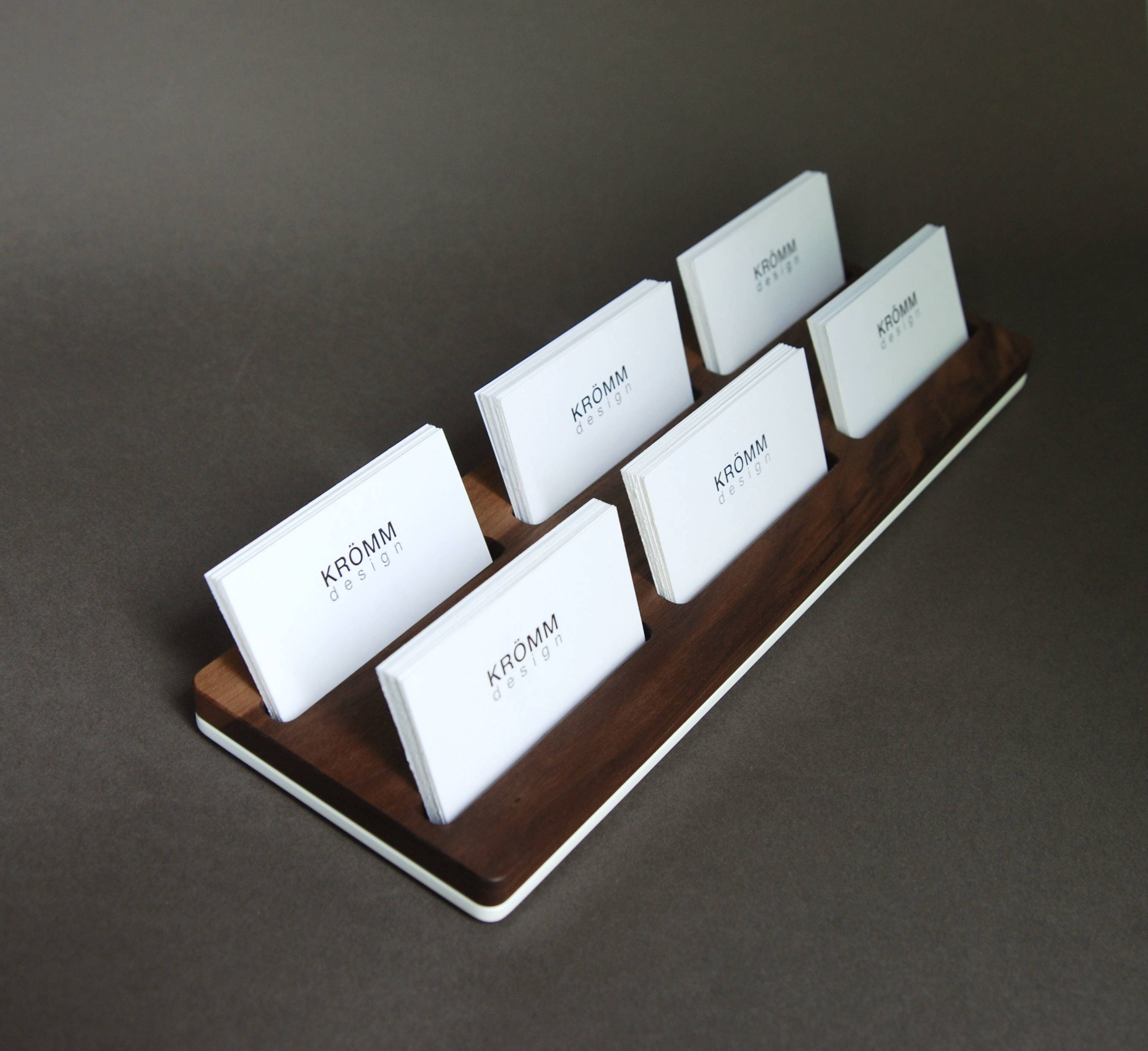 Wood two row business card holder for front desk wood business wood two row business card holder for front desk wood business card stand multiple business card display walnut wood card holder colourmoves