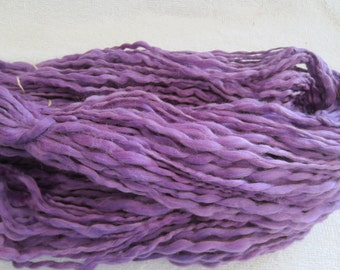 Skein VIOLET PURPLE Handspun Hand Dyed Acrylic Yarn 332D