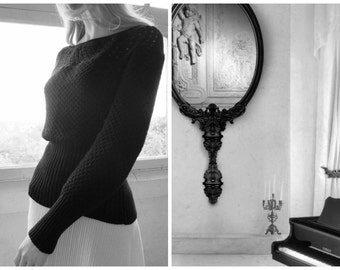 Jumper Black Openwork