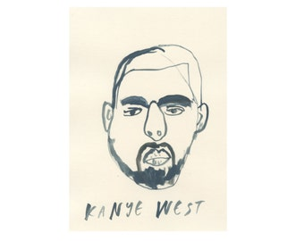 Original Portrait || KANYE WEST || 100failedfamousfaces
