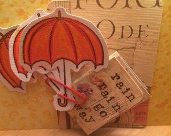 Umbrella Die Cut Set with mini Journal embellishment