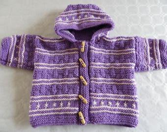 manteau violet et rose taille 6 mois
