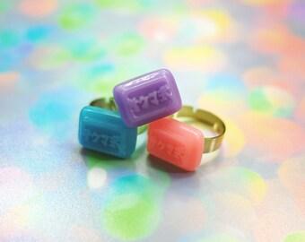 Kawaii Candy Ring, Fairy Kei Ring Pastel Statement Ring Kawaii Resin Jewelry, Pastel Goth Clothing Kawaii Jewelry Japanese Candy Kawaii Ring
