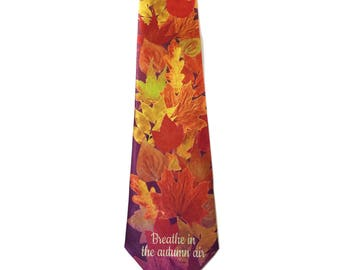 Stonehouse Collection Men's Autumn Tie - Fall Leaves Necktie - 26041