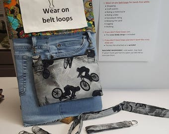 Hip Pocket/Cross Body Bag/ Wristlet (key Fob)