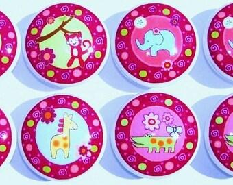 8 Lollipop Jungle Girls kids Dresser Drawer Knobs