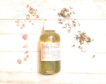 Hair and Scalp Hot Oil Rich Natural for flaky dry scalp dull hair with Rosemary Yarrow Horsetail Lavender effective