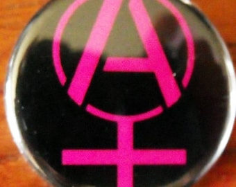 ANARCHA-FEMINIST STENCIL    pinback buttons badges pack!