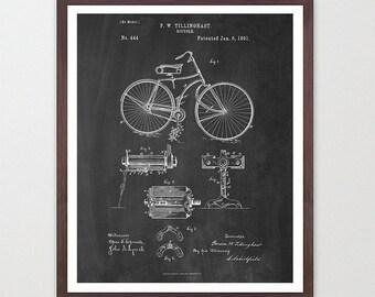 Bicycle Poster - Vintage Bicycles Patent - Bike Poster - Bike Art - Bicycle Print - Bicycle Wall Art - Cycling Art - Bike Patent - Cyclist