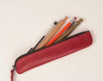 small pencil case /  leather pen case / leather pen pouch / the perfect gift