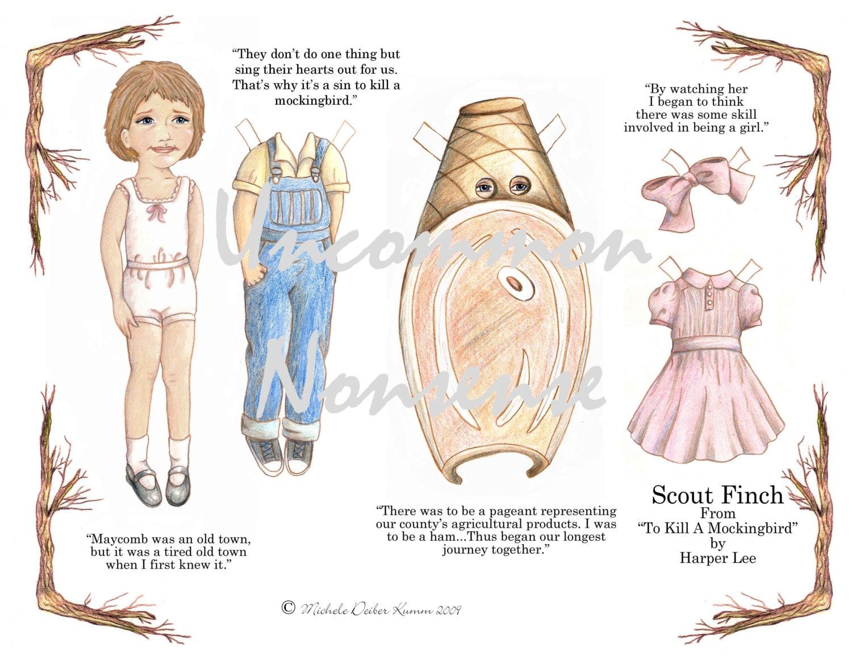 Scout Finch An Artist Paper Doll