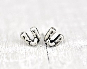 Baby Horseshoe Earrings - Lucky earrings - Cowgirl Jewelry -Horseshoe Jewelry - E701
