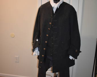 Men's 18th Century Outfit; Scottish Historical Suit; Men's 18th Century Suit; Wool Suit