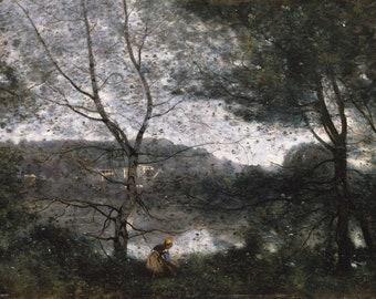 """Camille Corot : """"Ville-d'Avray"""" (1870) - Giclee Fine Art Print"""