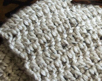 Chunky off white Crocheted Cowl