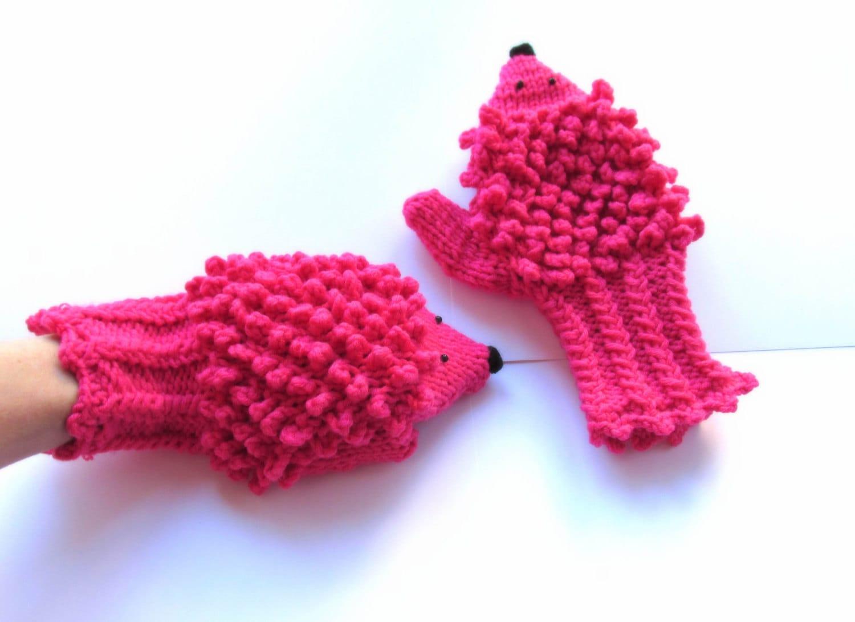Hedgehog Mittens, Knit Pattern, Hedgehog Pattern, Crochet Pattern ...